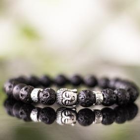 Pulseira Masculina Pedras Naturais Onix Buda Budha Buddha
