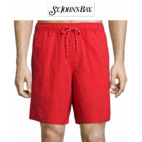 Shorts Xl Traje Bano St John Bay Rojo Hombre Extra Grande Ve