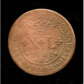 Bras. Reino Unido Xl Réis 1821 Rev. Invertido (rara) L.1020