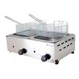 Fritador Gás Óleo Inox 10 2 Cubas Venâncio Fritadeira Sfg212