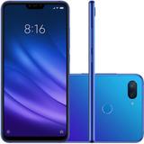 Xiaomi Mi8 Lite 4gb 64g Global+capa+pelicula+fone Cor Azul