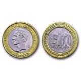 Moneda Bimetálica 2005 ( Bs.1000) (error Doble Cuello)