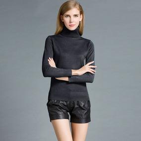 Moda Inverno Mulheres Suéter Roupa De Malha Tartaruga Pesco