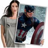 Heróis Da Marvel Capitão América Poster Grande 60x42cm 06