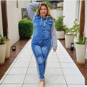 cbab8f505f Jaqueta Jeans Com Moletom Feminino Plus Size - Casacos no Mercado ...
