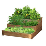 Macetero Maceta Caja Jardin Estante Madera 3 Niveles