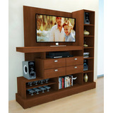 Modular Mueble Mesa Nature Tv Lcd Led 4 Cajones 10 Estantes