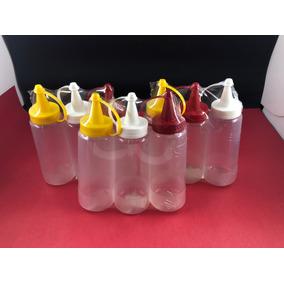 Bisnaga Plástica Rosca Vazia De 200gr - Kit Com 9 Peças