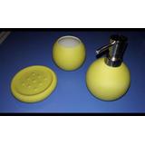 Set De Accesorios Para Baño En Color Verde - Accesorios para Baños ... 280928c2b674