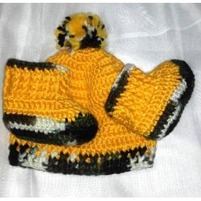ef93e34fab7a9 Gorro Tejido Crochet Hombre - Ropa y Accesorios Ocre en Mercado ...