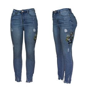 Jeans De Dama Flores Ropa Por Menor Exelente Calidad