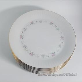 Platos De Postre Porcelana Tsuji Bordes En Oro - Reposición