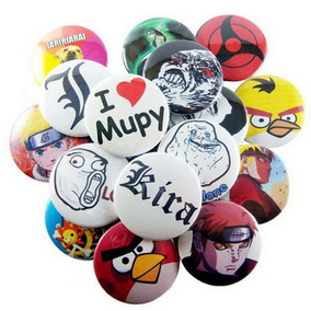 100 Boton Botton Personalizado 4,5 Cm Broche Button Botom