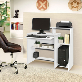 Mesa Escrivaninha Computador Escritorio Australia Cor Branco