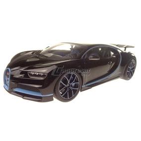 Miniatura Bugatti Chiron Preto Bburago 1/18