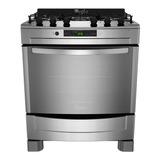 Cocina Whirlpool 5 Hornallas 76cm Acero Inox Wf876xg *3