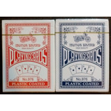 Lote 2 Mazos Cartas Poker Canasta Rummy Rojo + Azul Nuevos