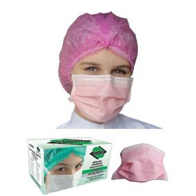 Caixa De Máscara Rosa 50 Unidades