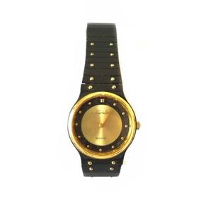 Relógio Preto/dourado Cartier Usado