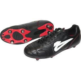 Zapato De Futbol Olmeca Intercambiable Pintos En Piel Negro eca5b71d7c45c