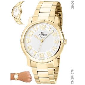 d6153cb1f08 Champion Dourado Com Numero Romanos - Relógios no Mercado Livre Brasil