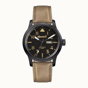 Reloj Ingersoll I01302 Redondo Hombre Negro Y Beige