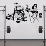 Adesivo De Academia Musculação Fitness 170cm + Brindes A932