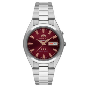 d7aea884cb9 Relógio Orient Masculino Automático 469ss084 W1sx Vinho · R  598 90