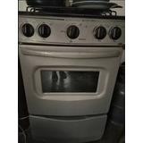 Cocina 4 Hornillas Con Horno Electrolux Color Plomo