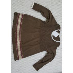 Vestido Inverno Infantil Menina - Vestidos Meninas Marrom no Mercado ... 17cdb405214