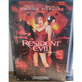 Quadro Pôster Gigante Resident Evil O Hóspede Maldito Raro!!