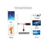 Cable Lightning A Hdmi Hdtv Iphone 6,7,8,x Todos Hd