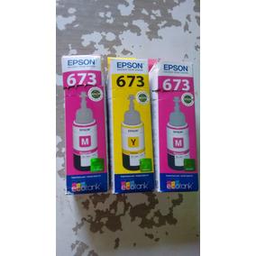 Refil De Tinta Epson 2 Magenta 673 1 Amarelo 673
