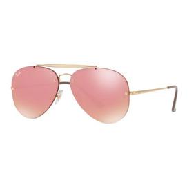 Oculos Sol Ray Ban Blaze Aviador Rb3584n 9052e4 Dourado Rosa e140a928b3