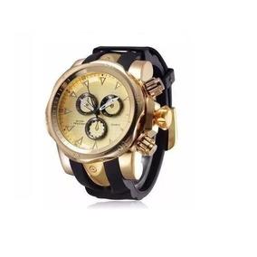 Shhors 1216 Fashion Men Quartz Watch - Golden - Dourado