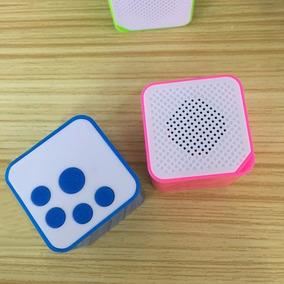 Mini Caixa De Som, Mp3, Pequena, Cartão, Cor Perto/branco