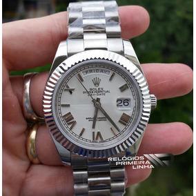 23490d77596 Relogio Branco Imita O De Uma Masculino Rolex - Relógios De Pulso no ...