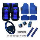 Kit Capa Banco Volante Pedal Tapetes Cinto Vw Gol Fox Polo