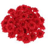 50x Cabezas De Flor Rosa Artificial Stapelia Planta Decoraci