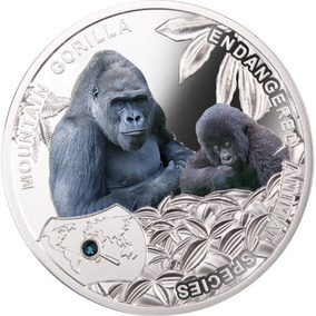 Niue 1$ Mountain Gorilla 2014 - Proof - Prata 999