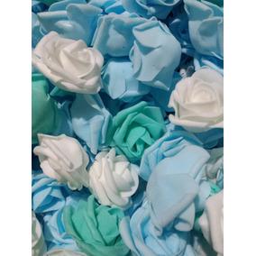 72 Rosinhas Eva Artesanato Médias Artificial Rosas Flores