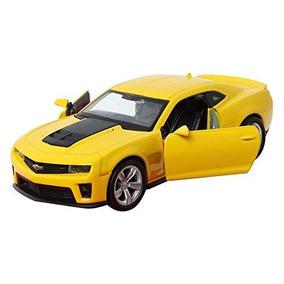 Miniatura Coleção Chevrolet Camaro Zl1 Amarelo 1/38 Welly