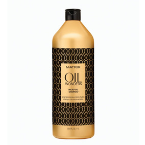 Shampoo Micro-oil Aceite De Argán 1000ml Oil Wonders Matrix