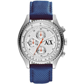 Relógio Armani Exchange Cronógrafo Ax1609 8an Prata Nylon · R  1.199. 12x  R  99 sem juros 7ab66b1895
