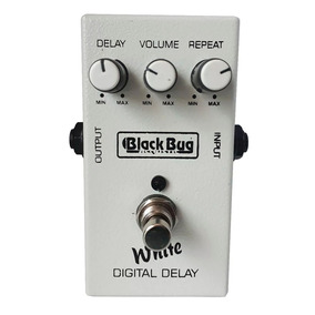 Pedal Delay Para Guitarra Baixo Violao White Twd Black Bug