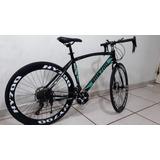 Bicicleta Ruta Fixe 21 Velocidades Acero Alto Carbono 700cc