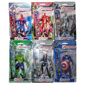 Boneco 15cm Com Luz Aventureiros Avengers Sortidos