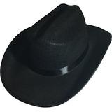 5baa2e6c9e305 Sombrero De Fieltro De Vaquero Negro Tamaño Del Niño