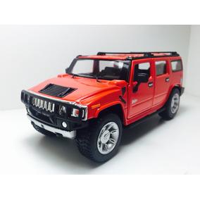Miniatura 2008 Hummer H2 Suv Vermelho Kinsmart 1/32