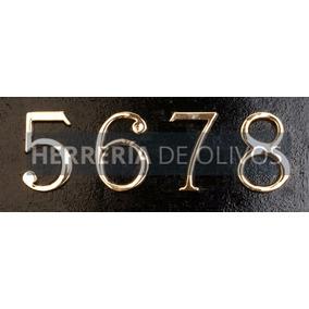 Números En Bronce- Dirección Casas - Numeración Domicilio